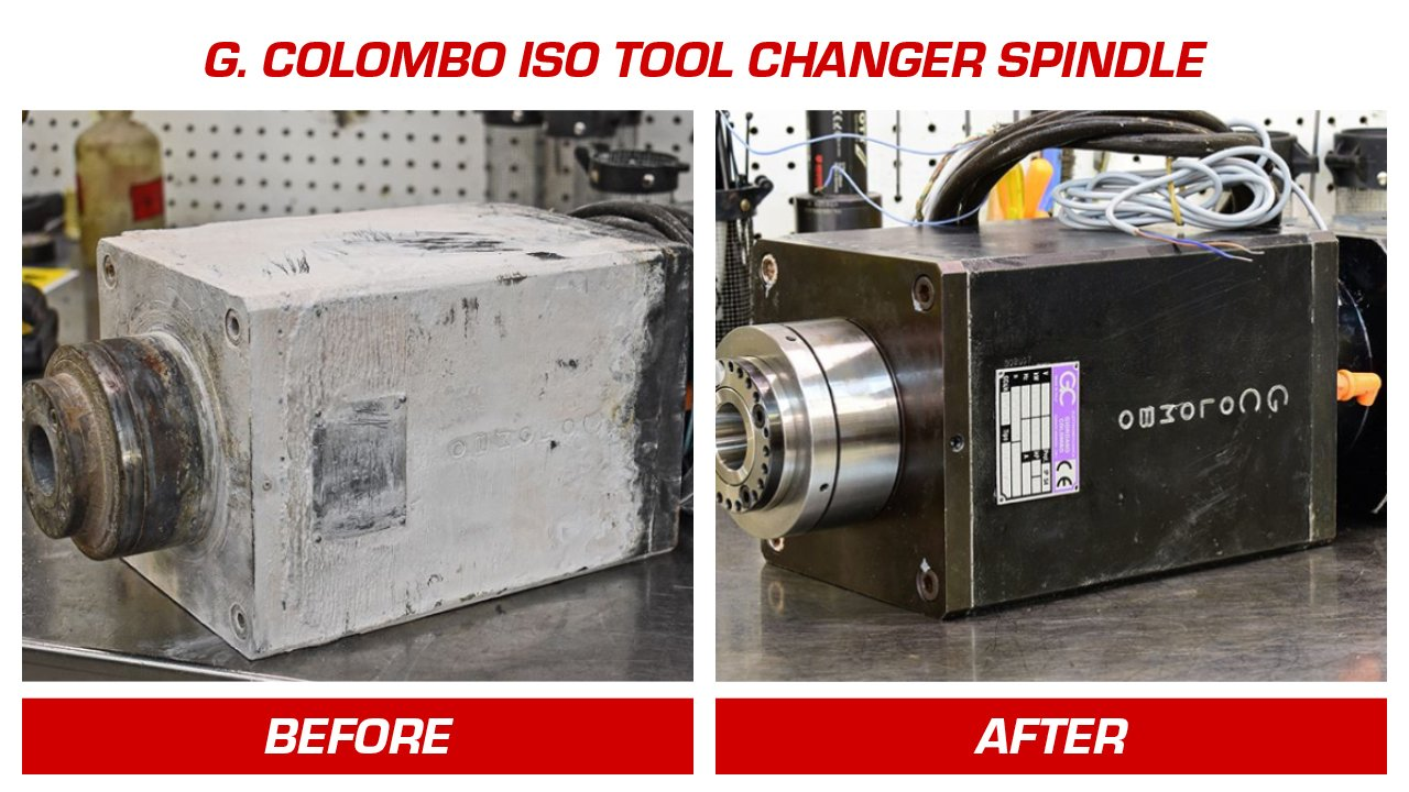 High Speed CNC Router Spindles Repair and Rebuild, Brands Repaired - Columbo Before and After