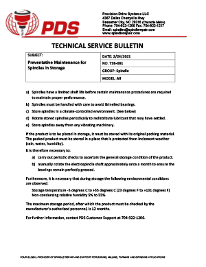 Spindle Preventative Maintenance Guidelines
